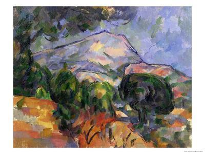 Montagne Sainte-Victoire Au-Dessus De La Route Du Tholonet, circa 1904