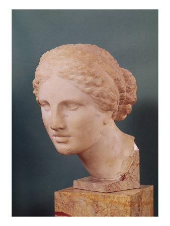 The Kauffmann Head, Head of Aphrodite, Copy of the Aphrodite of Cnidus by Praxiteles (Fl.375-40 BC)
