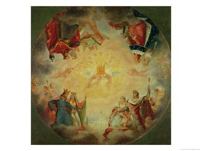 Glory of St. Genevieve, Study for the Cupola of the Pantheon, circa 1812