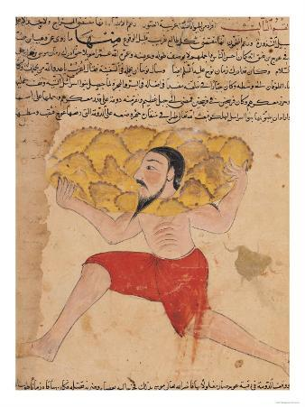 """Giant Carrying Mountains, from """"The Wonders of the Creation and the Curiosities of Existence"""""""