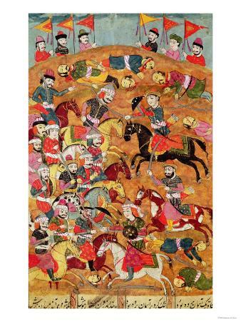 Battle Between the Persians and the Turanians, Illustration from the Shahnama (Book of Kings)