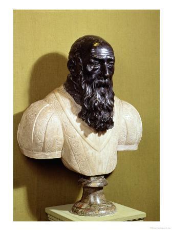 Portrait Bust of Jean De Bologna (circa 1529-1608) 1608 (Bronze & Marble)