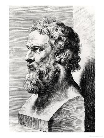 Bust of Plato (circa 427-circa 348 BC) Engraved by Lucas Emil Vorsterman (1595-1675)