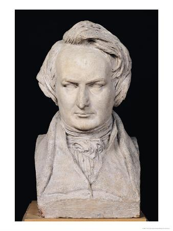 Bust of Victor Hugo (1802-85) Aged 35, 1837