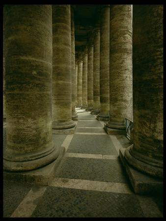 View Inside the Colonnade