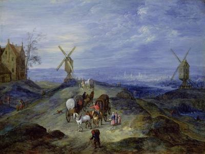 Landscape with Two Windmills, 1612