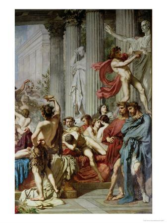 The Romans of the Decadence, Detail of the Right Hand Group, 1847