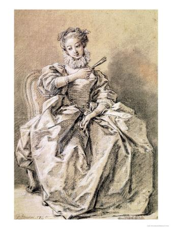 Woman in Spanish Costume