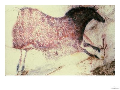 Rock Painting of a Galloping Horse, circa 17000 BC