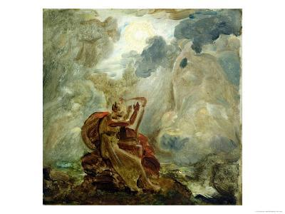 Ossian Conjures up the Spirits with His Harp on the Banks of the River of Lorca, circa 1811