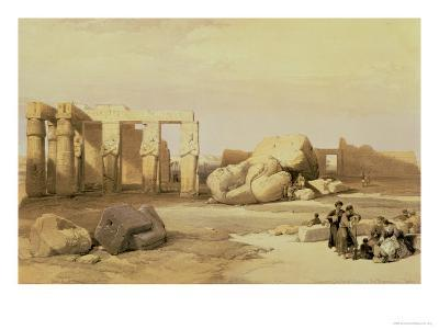 Fragments of the Great Colossus, at the Memnonium, Thebes, 1937 BC