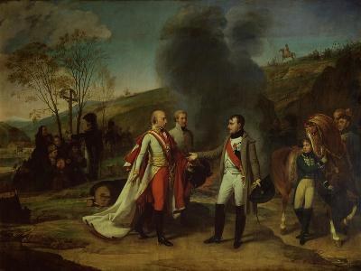 Napoleon I (1769-1821) and Francis I (1768-1835) after the Battle of Austerlitz, 4th December 1805