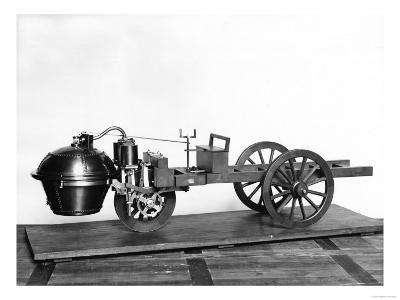 Steam-Powered Car Invented by Nicolas Joseph Cugnot (1725-1804)