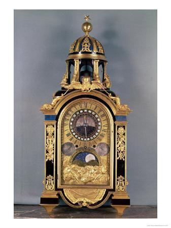 Astronomical Clock Made for the Grand Dauphin Louis of France (1661-1711), 1710 (Gilded Bronze)
