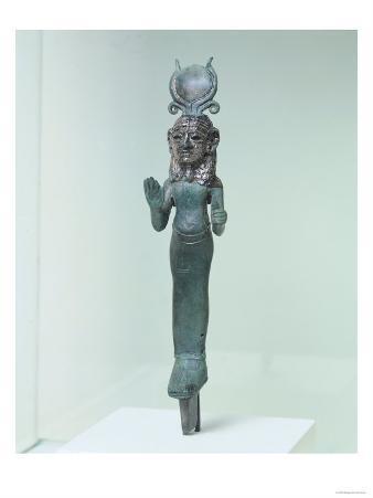 Statuette of a Phoenician Goddess, from the Phoenician Coast, circa 700-600 BC (Bronze & Silver)