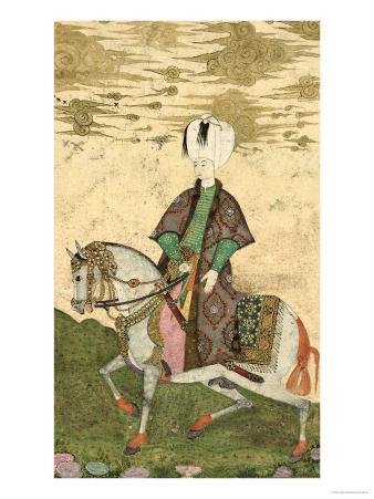 Equestrian Portrait of Sultan Osman II (1603-22) 1618