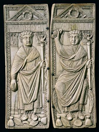 Diptych of Boethius (480-524) Consul in 487 AD (Ivory)