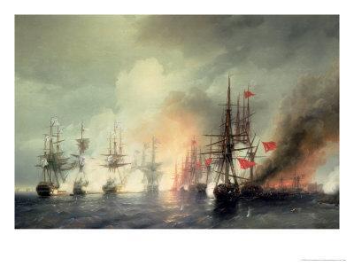 Russian-Turkish Sea Battle of Sinop on 18th November 1853, 1853