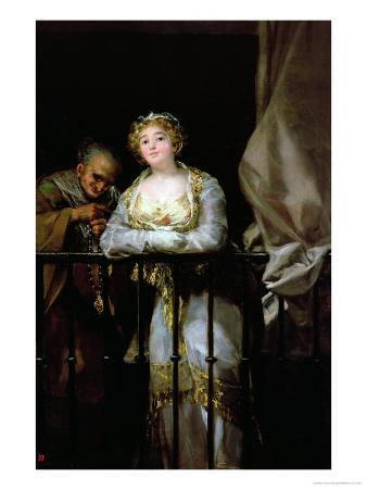 Maja and Celestina on a Balcony, 1805-12