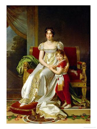 Hortense De Beauharnais (1783-1837) Queen of Holland and Her Son, Napoleon Charles Bonaparte
