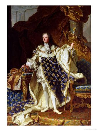 Portrait of Louis XV (1715-74) in His Coronation Robes, 1730