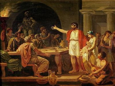 Study for Lycurgus Showing the Ancients of Sparta Their King, 1791