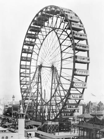 The Ferris Wheel at the World's Columbian Exposition of 1893 in Chicago