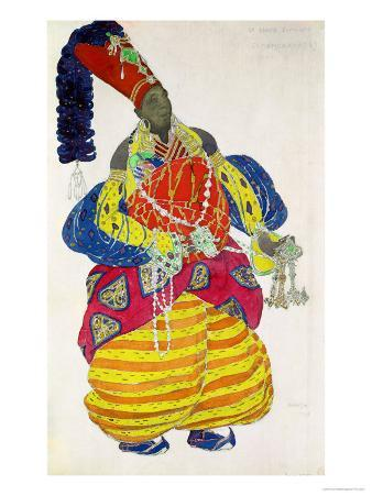 """The Great Eunuch, Costume Design for Diaghilev's Production of the Ballet """"Scheherazade,"""" 1910"""