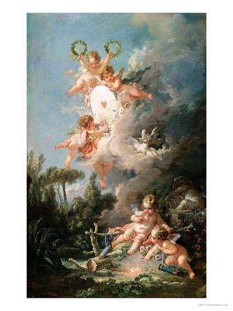 """Cupid's Target, from """"Les Amours Des Dieux,"""" 1758"""