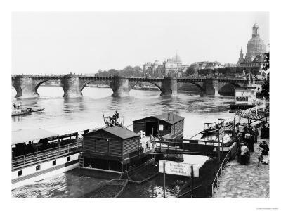 Augustus Bridge, Dresden, circa 1910