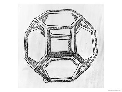 "Polyhedron, from ""De Divina Proportione"" by Luca Pacioli, Published 1509, Venice"