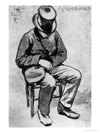 Arthur Rimbaud (1854-91) Slumped on a Chair and Dozing, in London, 1872