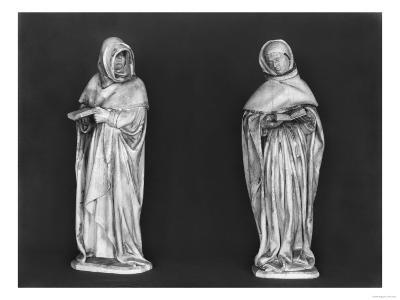 Two Mourners, from the Tomb of Duc Jean De Berry (1340-1416) circa 1450-53 (Alabaster)