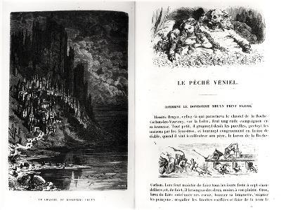 "Two Illustrated Pages from ""Les Contes Drolatiques"" by Honore De Balzac (1799-1850)"