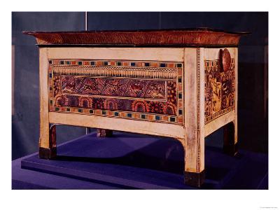 Coffer from the Tomb of Tutankhamun, New Kingdom (Wood, Bronze, Ivory and Coloured Glaze)