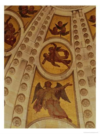 Detail of Angels from the Dome, Built 1635-42 (Wall Painting)