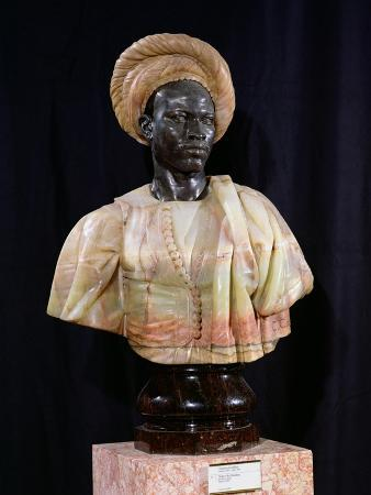 Bust of a Sudanese Man, 1857 (Onyx & Bronze)