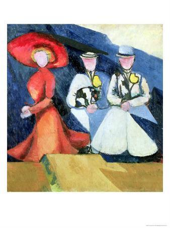 Three Female Figures, 1910-11