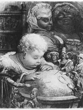 "Education of Gargantua, Illustration from ""Gargantua"" by Francois Rabelais (1494-1553)"