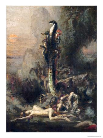 Hercules and the Lernaean Hydra, after Gustave Moreau, circa 1876