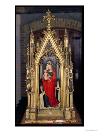 Virgin and Child, Reverse of the Reliquary of St. Ursula, 1489