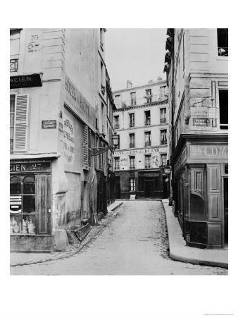 Rue Maitre Albert (From Place Maubert) Paris, 1858-78