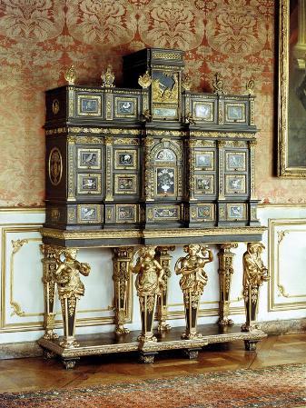 Louis XIV Jewellery Cabinet, Gobelins Workshop, circa 1685 (Bronze & Ebony)
