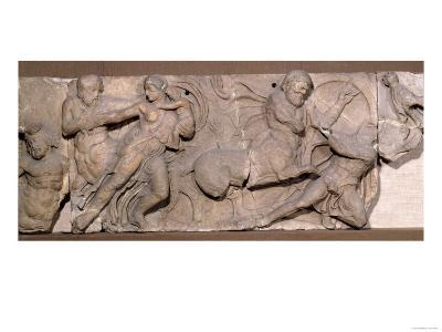 Temple of Apollo at Bassae, Frieze Slab Showing Lapiths and Centaurs in a Battle