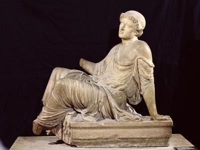 "Woman Seated on a Altar, ""The Supplicant Barberini,"" circa 440-430 BC"