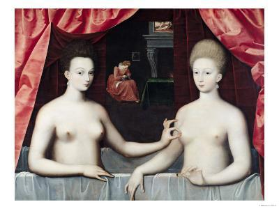 Gabrielle D'Estrees (1573-99) and Her Sister, the Duchess of Villars, Late 16th Century