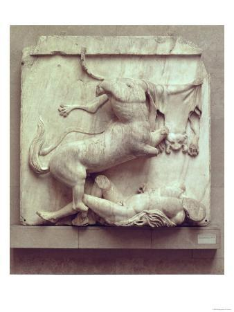 A Centaur Triumphing over a Lapith, Metope XXVII from the South Side of the Parthenon, 447-432 BC