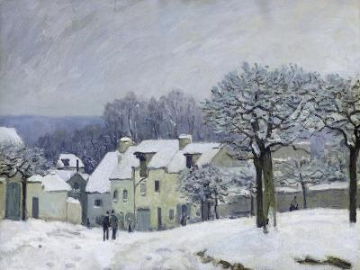 The Place Du Chenil at Marly-Le-Roi, Snow, 1876