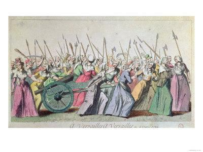A Versailles, a Versailles' March of the Women on Versailles, Paris, 5th October 1789