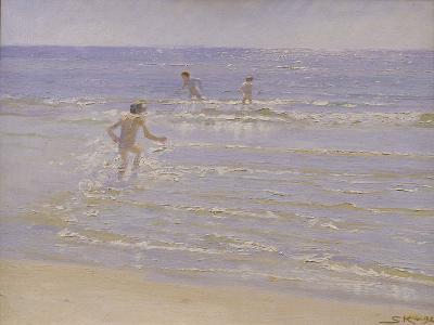 Sunshine at Skagen: Boys Swimming, 1892 (Study)